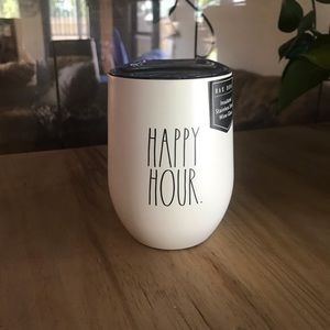 """Rae Dunn """"Happy Hour"""" insulated wine cup"""